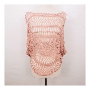 Debut Crochet Poncho Style Top